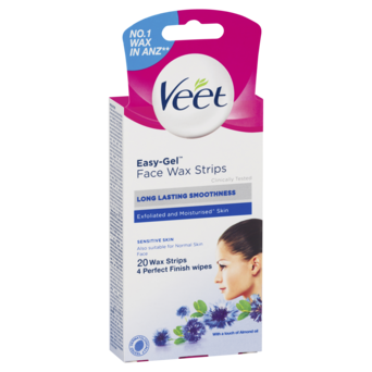 Veet Facial Easygrip Ready To Use Wax Strips Sensitive Veet