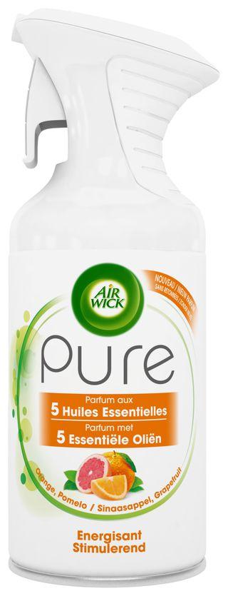 Air Wick Aérosol Pure Parfum aux Huiles Essentielles Energisant