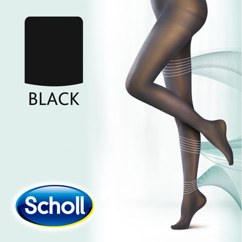 Scholl Extra Large Light Legs Compression Tights 20 Den Black