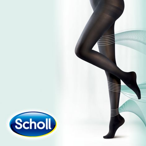 Scholl Medium Light Legs Compression Tights 60 Den Black
