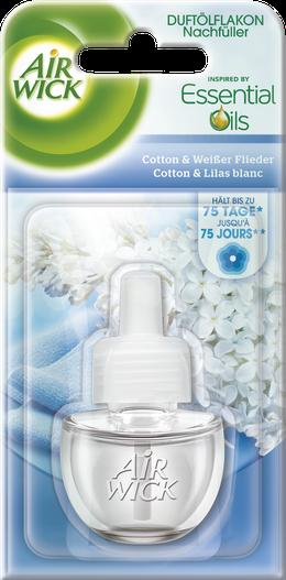 Air Wick Flacon d'Huile Parfumée Coton & Lilas blanc