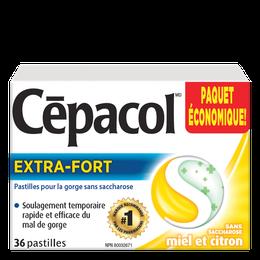 Cépacol EXTRA-FORT – sans saccharose miel et citron