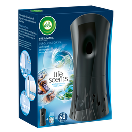 Air Wick Freshmatic Auto Spray Starter Kit Life Scents Turquoise Oasis 250 ml