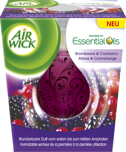 Air Wick Bougie d'Ambiance Mûres & Canneberge