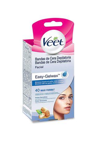 Bandas de Cera Depilatória Veet Faciais – Peles Sensíveis