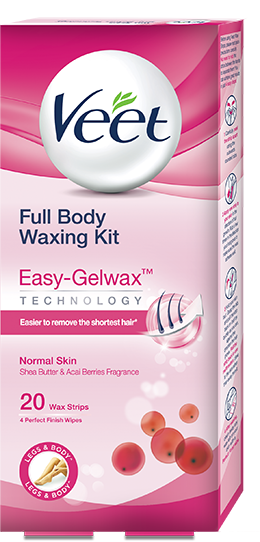 Veet Ready to Use Wax Strips  Full Body Waxing Kit - Normal Skin