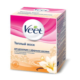 Тёплый воск для депиляции Veet с эфирными маслами