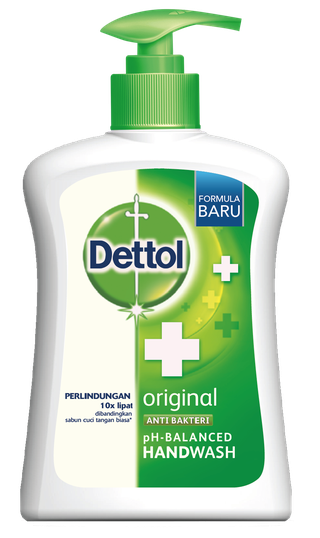 Sabun Cuci Tangan Anti Bakteri Dettol Original (225ml)
