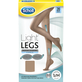 Scholl Light Legs tugisukkpuksid, 20 DEN, beezid