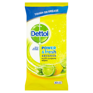 Dettol Power & Fresh Advance Antibacterial Multi-Purpose Wipes - Citrus Zest
