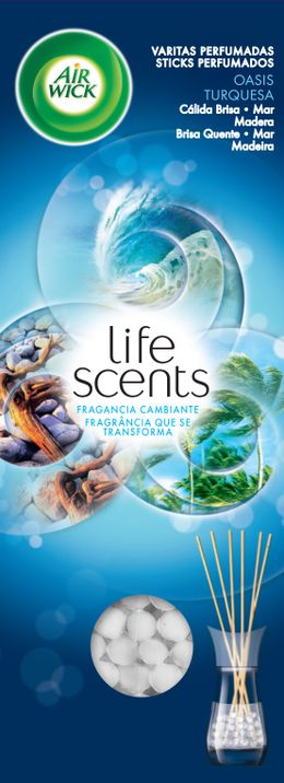 STICKS PERFUMADOS Life Scents Oásis Turquesa