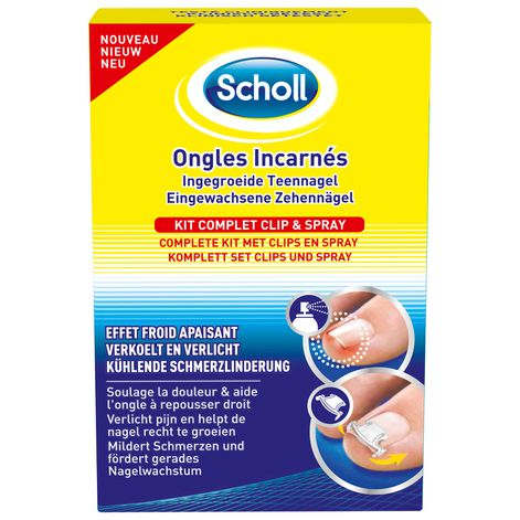 Scholl Ongles Incarnés - Kit Complet Clip & Spray