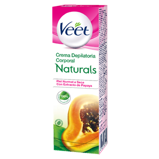 Crema Depilatoria Corporal Veet Naturals® Piel Normal a Seca