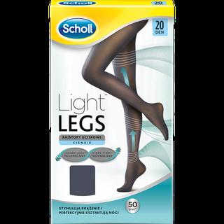 Scholl Light Legs kompresijas zekubikses 20 Den, melnas