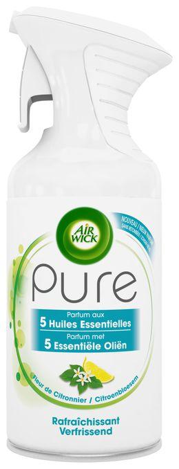 Air Wick Aérosol Pure Parfum aux Huiles Essentielles Rafraichissantt ¹
