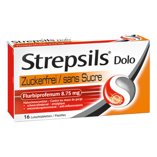 Strepsils® Dolo Zuckerfrei, Lutschtabletten