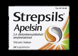 Strepsils Apelsin Sugtabletter 24 st.
