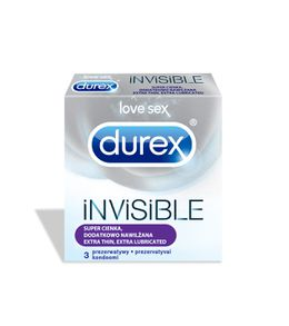 DUREX Invisible Extra Lubricated prezervatīvi