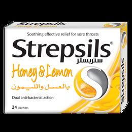 Strepsils العسل والليمون