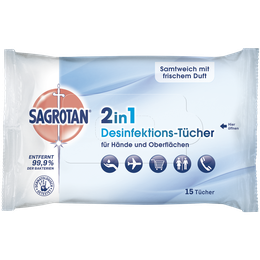 Sagrotan 2in1 Wipes 15 pieces