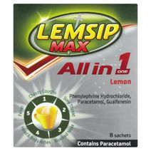 Lemsip Max All in One Cold + Flu Lemon Hot Drink 8s