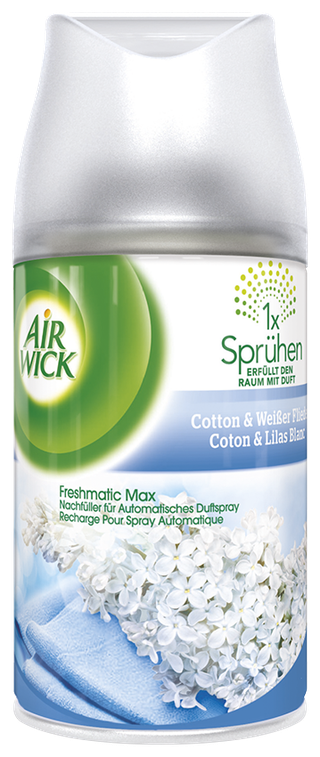 Air Wick Recharge Freshmatic Max Coton & Lilas blanc