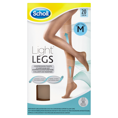 Scholl Medium Light Legs Compression Tights 20 Den Nude