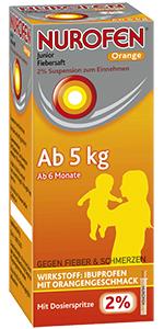 Nurofen® Junior Fiebersaft 2% Suspension zum Einnehmen 100 ml Orange