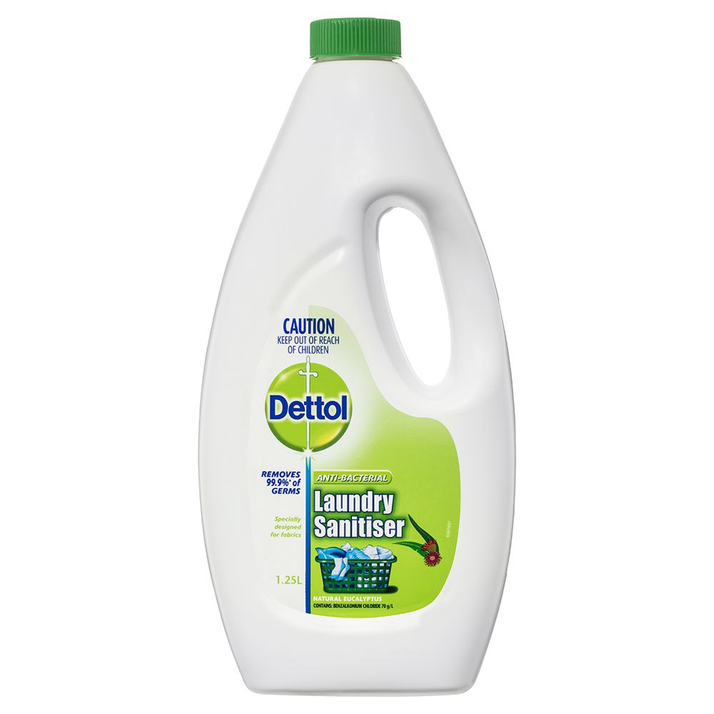 Dettol Anti-Bacterial Laundry Sanitiser Natural Eucalyptus 1.25L