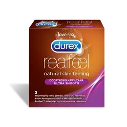 Durex Real Feel Dodatkowo Nawilżana 3szt.
