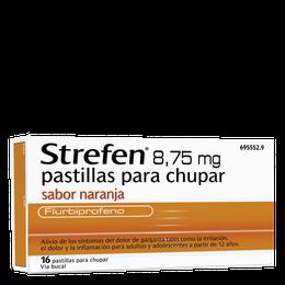 Strefen 8,75 mg pastillas para chupar sabor naranja