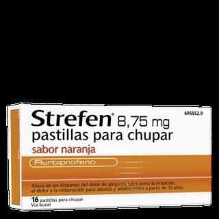 Strefen 8,75MG pastillas para chupar Sabor Naranja (sin Azúcar)