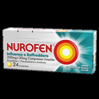 Nurofen Influenza e Raffredadore 200 mg + 30 mg Compresse Rivestite