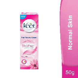 Veet Silk & Fresh Hair Removal Cream for Normal Skin, 50g
