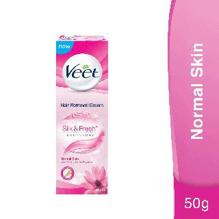 Veet Silk & Fresh Hair Removal Cream for Normal Skin, 50g