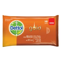 Dettol Gold Anti-Bacterial Wipes Classic Clean 10s