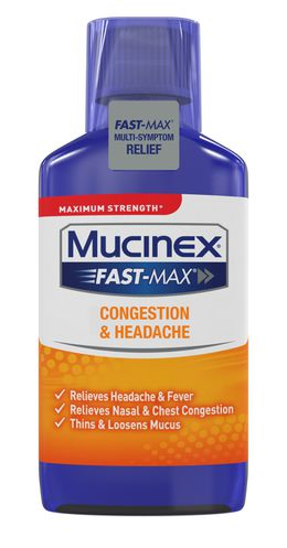 Maximum Strength* MUCINEX® Fast-Max® Congestion & Headache (liquid)