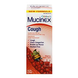 Mucinex® Children's Cough Liquid, Cherry Flavor