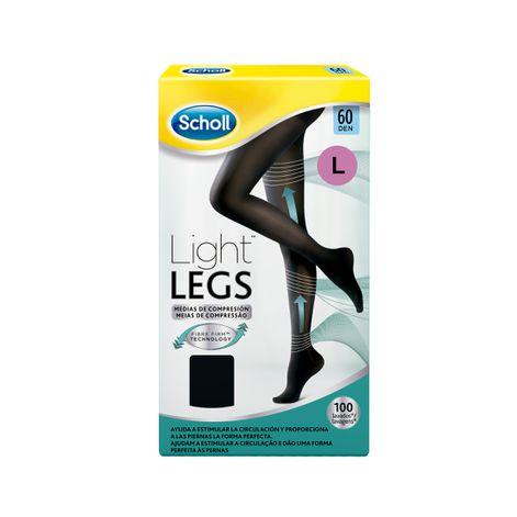 Medias de compresión ligera Scholl Light Legs 60 DEN color negro L