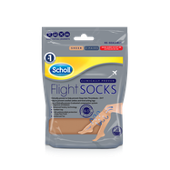 Scholl Flight Socks Natural Sheer - Sizes 4-6