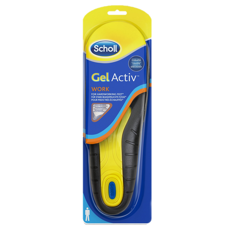 Scholl GelActiv Insoles Work Men