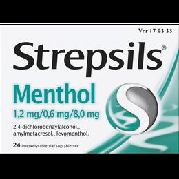 Strepsils Menthol imeskelytabletti 24 kpl.