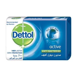 Dettol Anti-Bacterial Bar Soap Active 120g