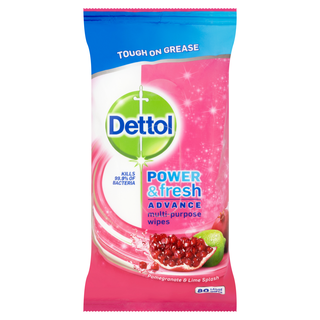 Dettol Power & Fresh Pomegranate Wipes