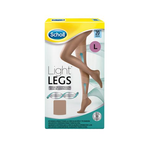 Medias de compresión ligera Scholl Light Legs 20 DEN color carne L