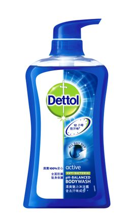 Dettol Active Antibacterial pH-Balanced Body Wash