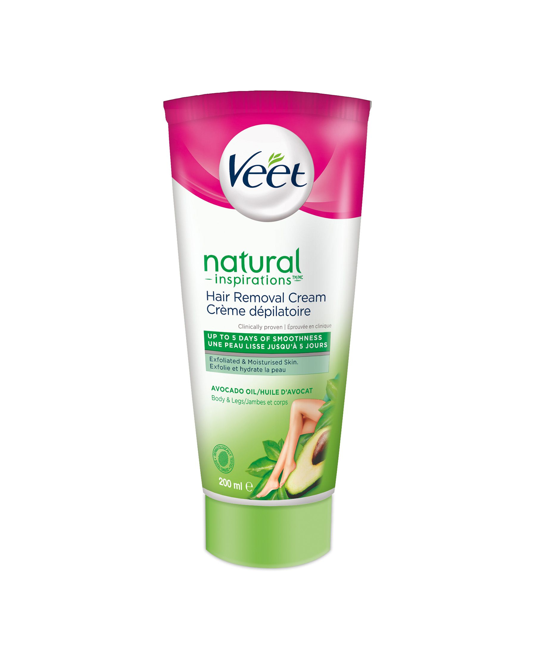 Veet® Natural Inspirations™ Hair Removal Cream Legs & Body Normal & Dry Skin, 200mL