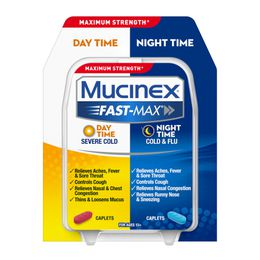 Maximum Strength* MUCINEX® Fast-Max® Day Time Severe Cold & Night Time Cold & Flu (Combo Pack) (caplets)