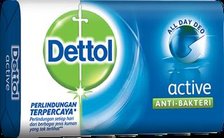 Sabun Anti Bakteri Dettol Active (3 x 65g)