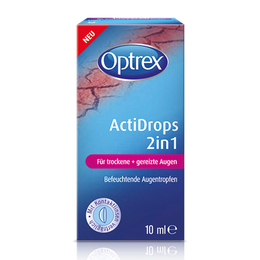 Optrex ActiDrops 2in1 für trockene + gereizte Augen